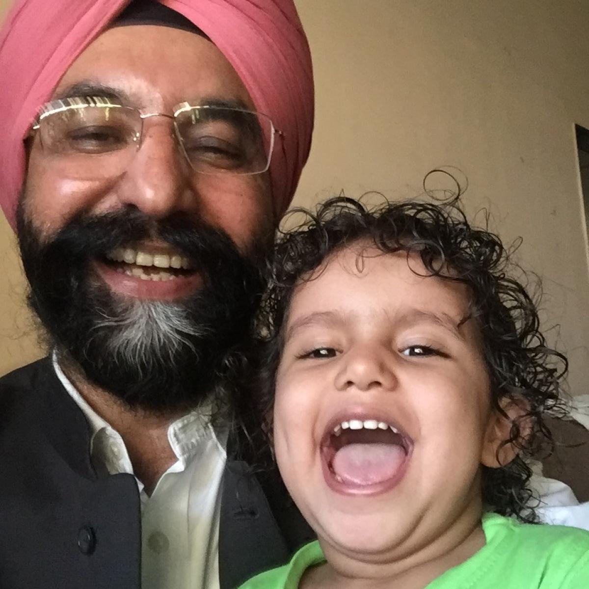 Sodhi with his grand-daughter Myrah
