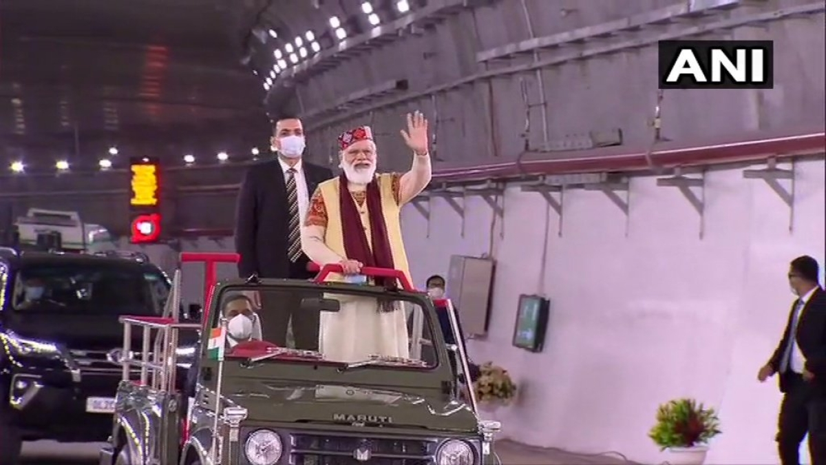 PM Modi inaugurates Atal Tunnel; says 'defence interests were compromised' in the past