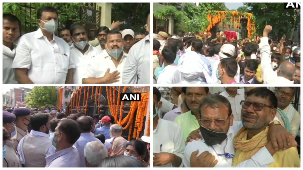 Patna: Family members, political leaders bid final farewell to Ram Vilas Paswan