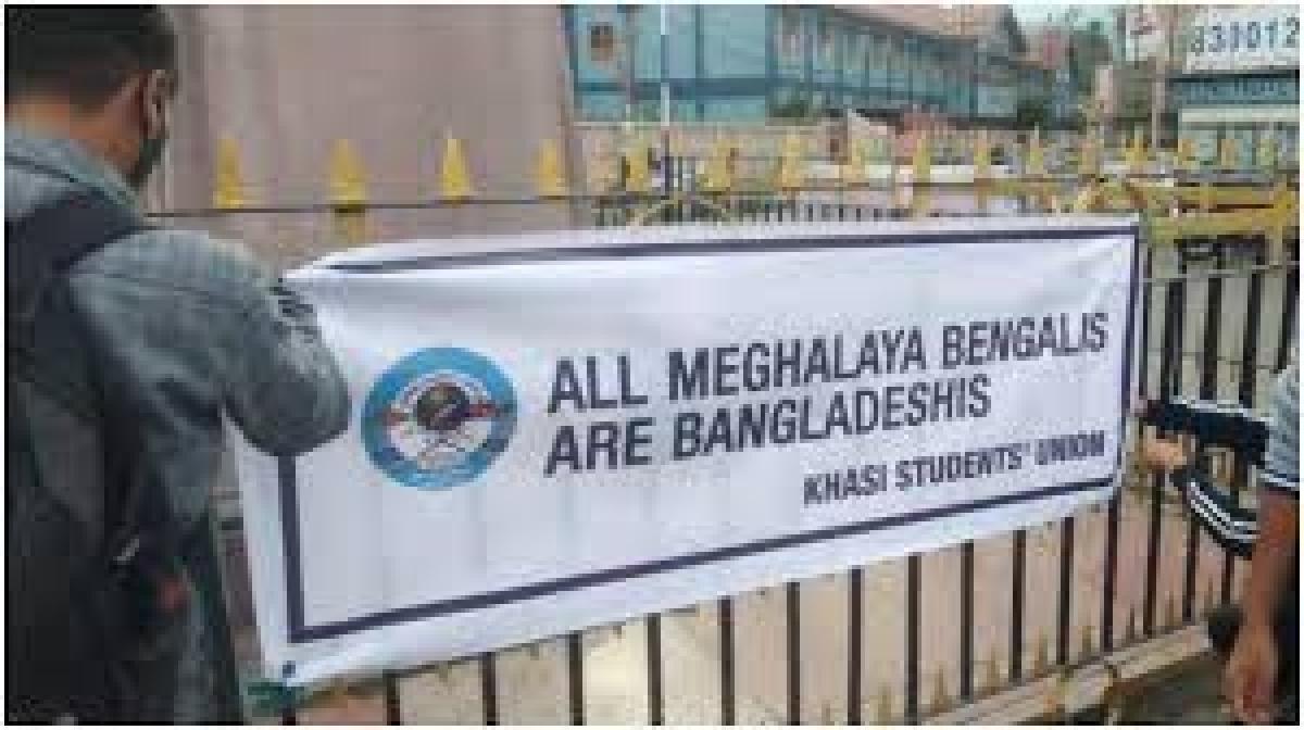 Students' body raises anti-Bengali banners, Meghalaya police warn of action