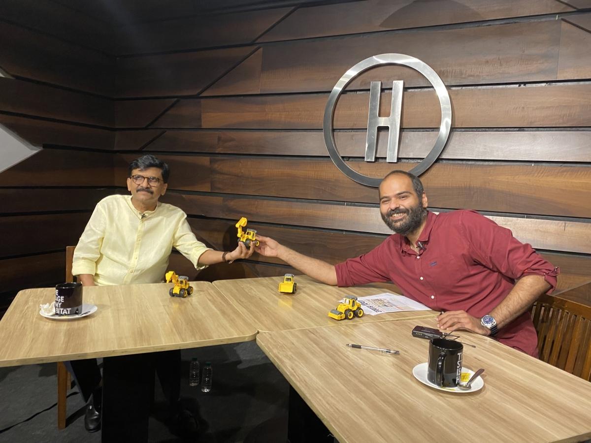 Sanjay Raut and Kunal Kamra use toy bulldozer to take a dig at Kangana Ranaut