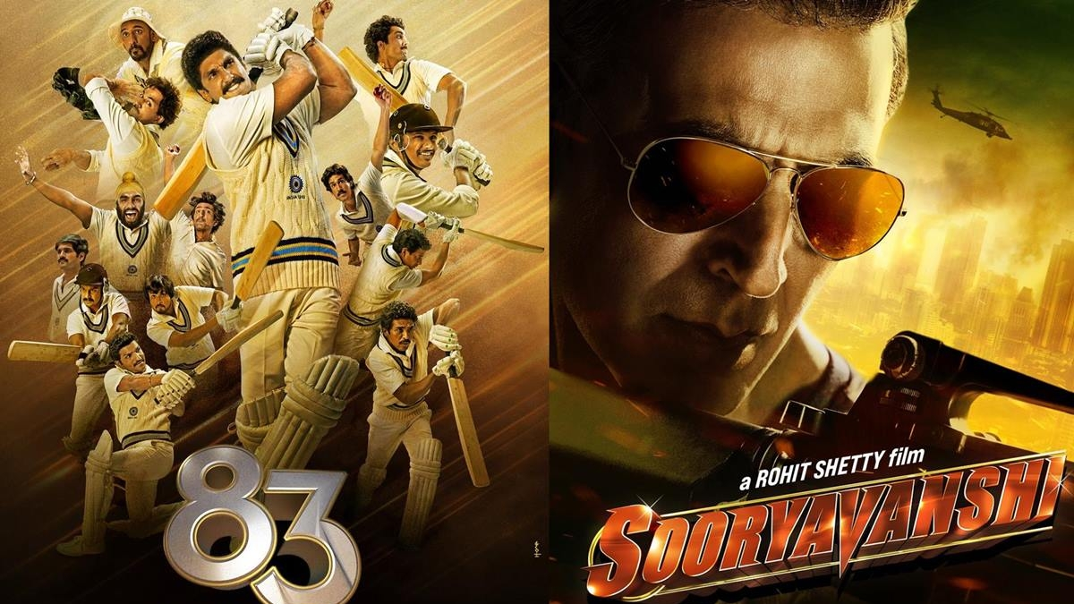 Ranveer's '83' to release around Christmas, Akshay's 'Sooryavanshi' pushed to 2021