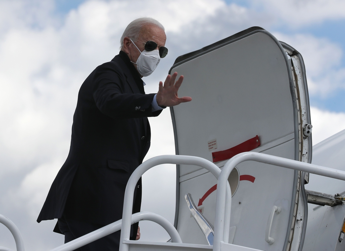 Joe Biden campaigning after negative virus test