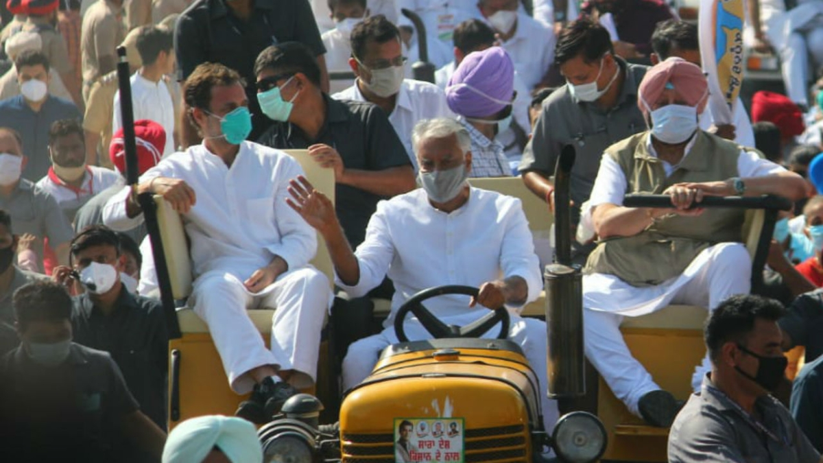 Kheti Bachao Yatra: At Punjab tractor rally, Rahul Gandhi slams Centre over farm laws