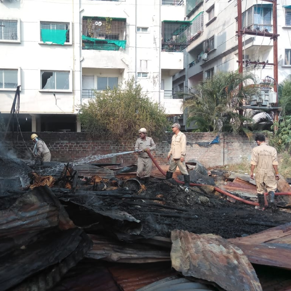 Indore: Idols gutted in fire at godown near Kanadiya Road
