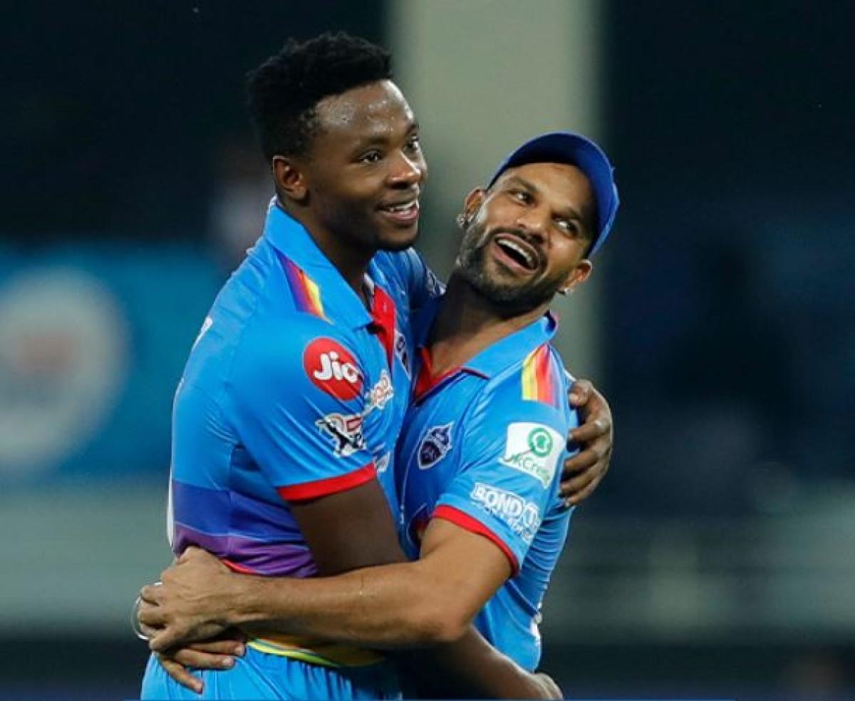 Delhi Capitals batsman Shikhar Dhawan and Kagiso Rabada