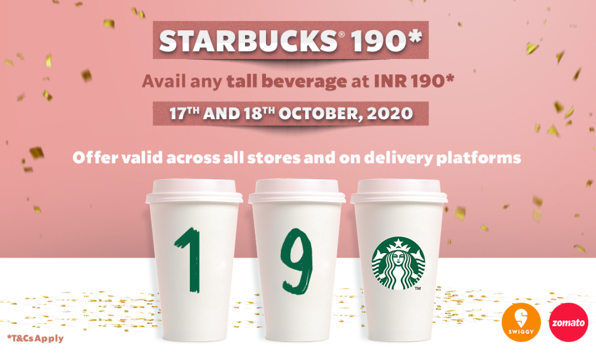Good news for Starbucks lovers in India: Enjoy your favorite coffee only at Rs 190 on Oct 17 and 18