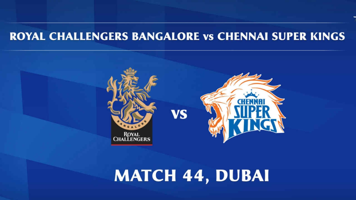 Royal Challengers Bangalore vs Chennai Super Kings LIVE: Score, commentary for the 44th match of Dream11 IPL