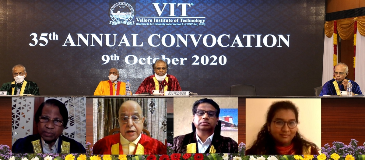 Dr. K. Kasturirangan, former ISRO Chairman delivers convocation address at the Vellore Institute of Technology's 35th annual convocation