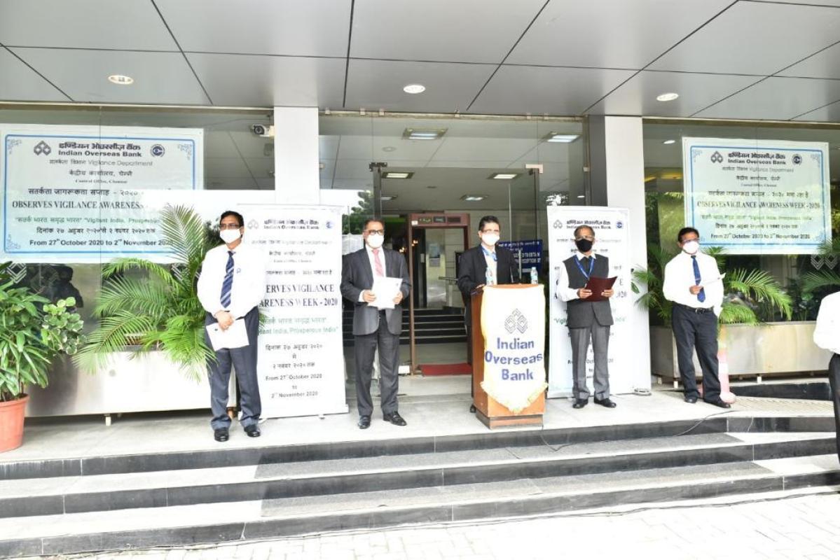 Indian Overseas Bank observes Vigilance Awareness Week