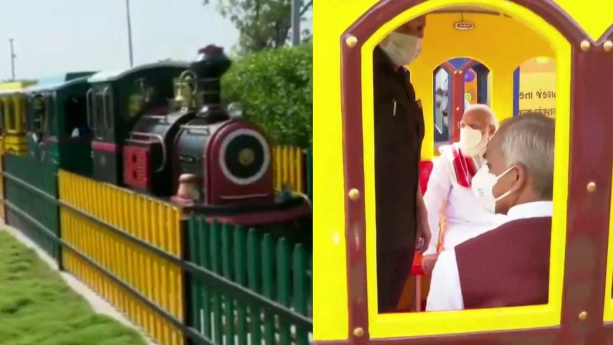 Watch: PM Modi rides in 'Nutri Train' at 'Arogya Van' in Gujarat' Kevadia