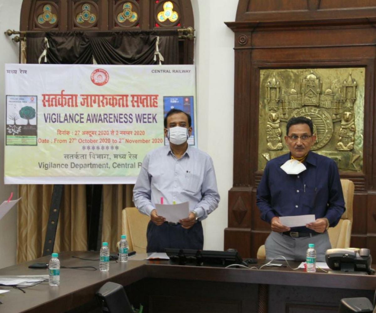 Central Railway observes Vigilance Awareness Week