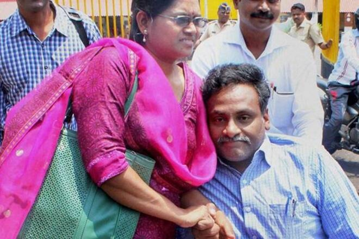 A day before Prof. Saibaba's hunger strike, family writes to prison again