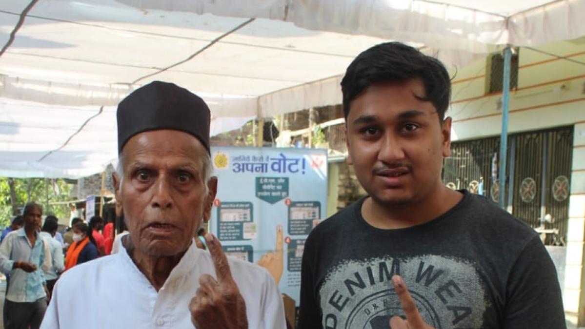 MP Bypolls: Grandparents, grandchildren bond shines on voting day in Indore