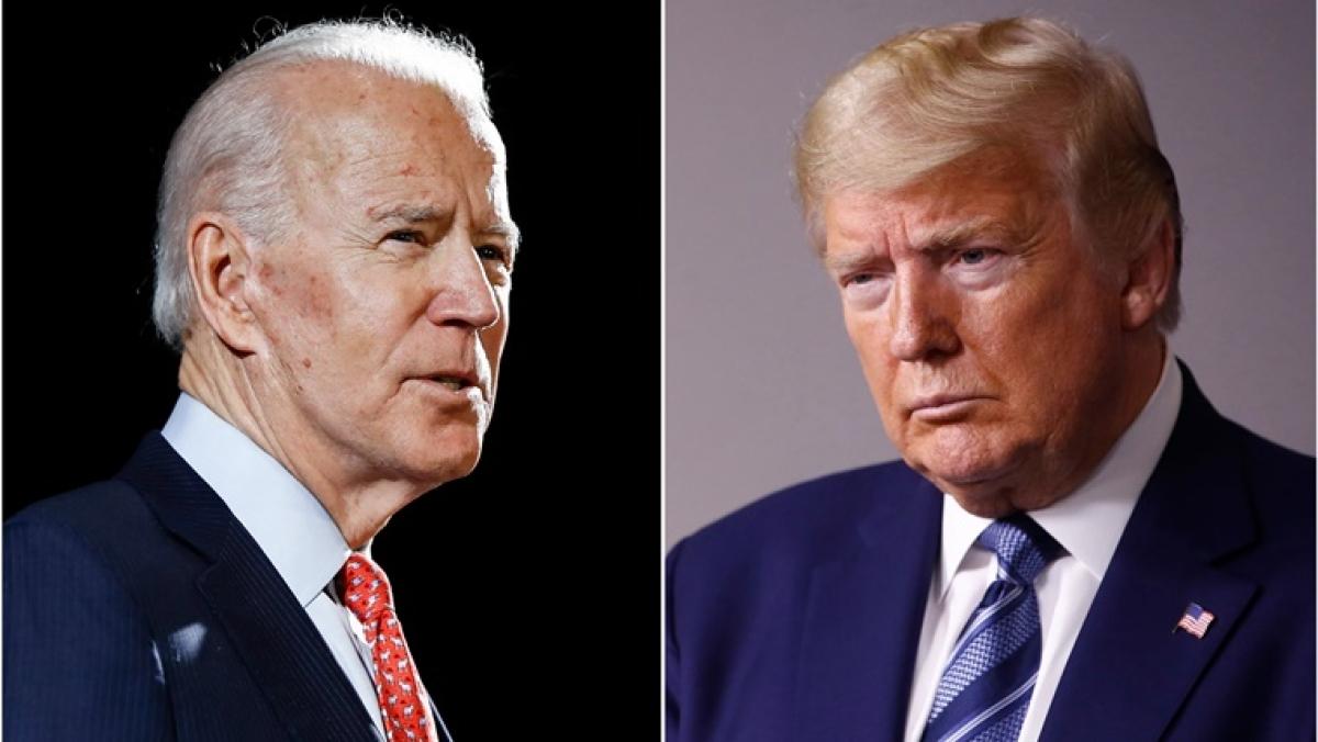Joe Biden (L) and Donald Trump (R)