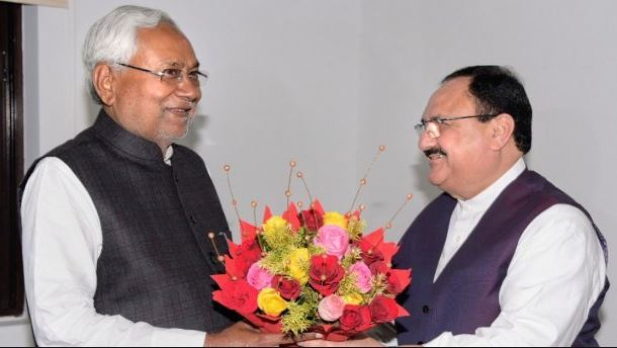 BJP president JP Nadda and Nitish Kumar
