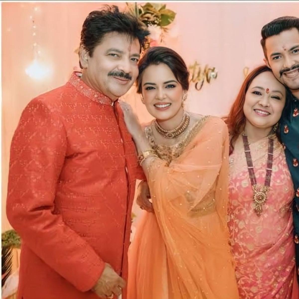 In Pics: Aditya Narayan and Shweta Agarwal kick-start wedding festivities with Tilak Ceremony