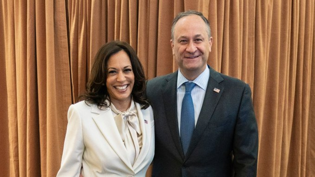 US Vice President-elect Kamala Harris & her husband Doug Emhoff