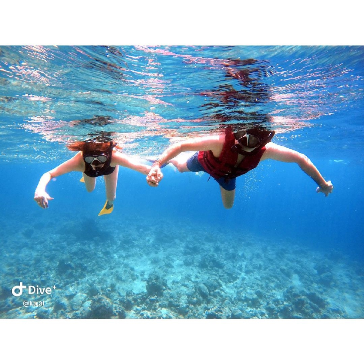 Kajal Aggarwal and Gautam Kitchlu go snorkeling in Maldives - check out her Instagram posts
