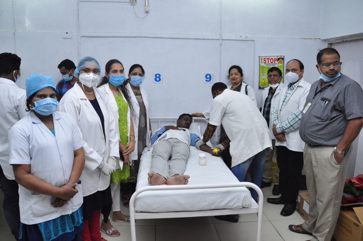 NTPC-Ramagundam holds blood donation camp on the eve of Raising day