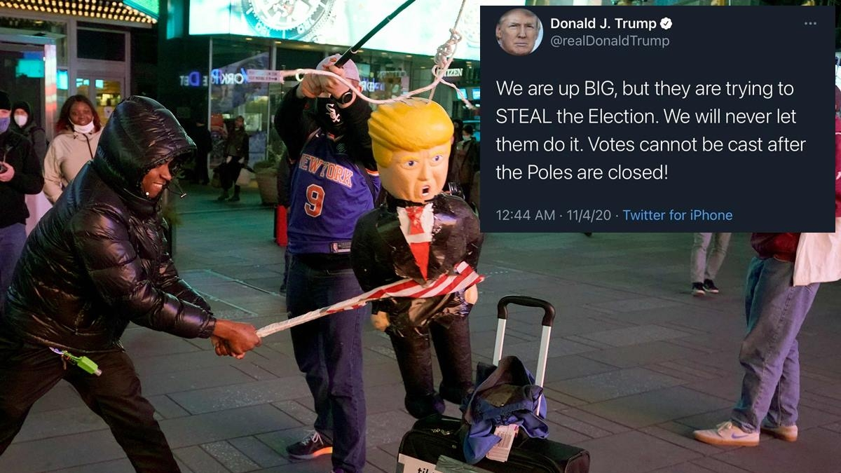 US Elections 2020: Donald Trump brutally trolled for misspelling polls