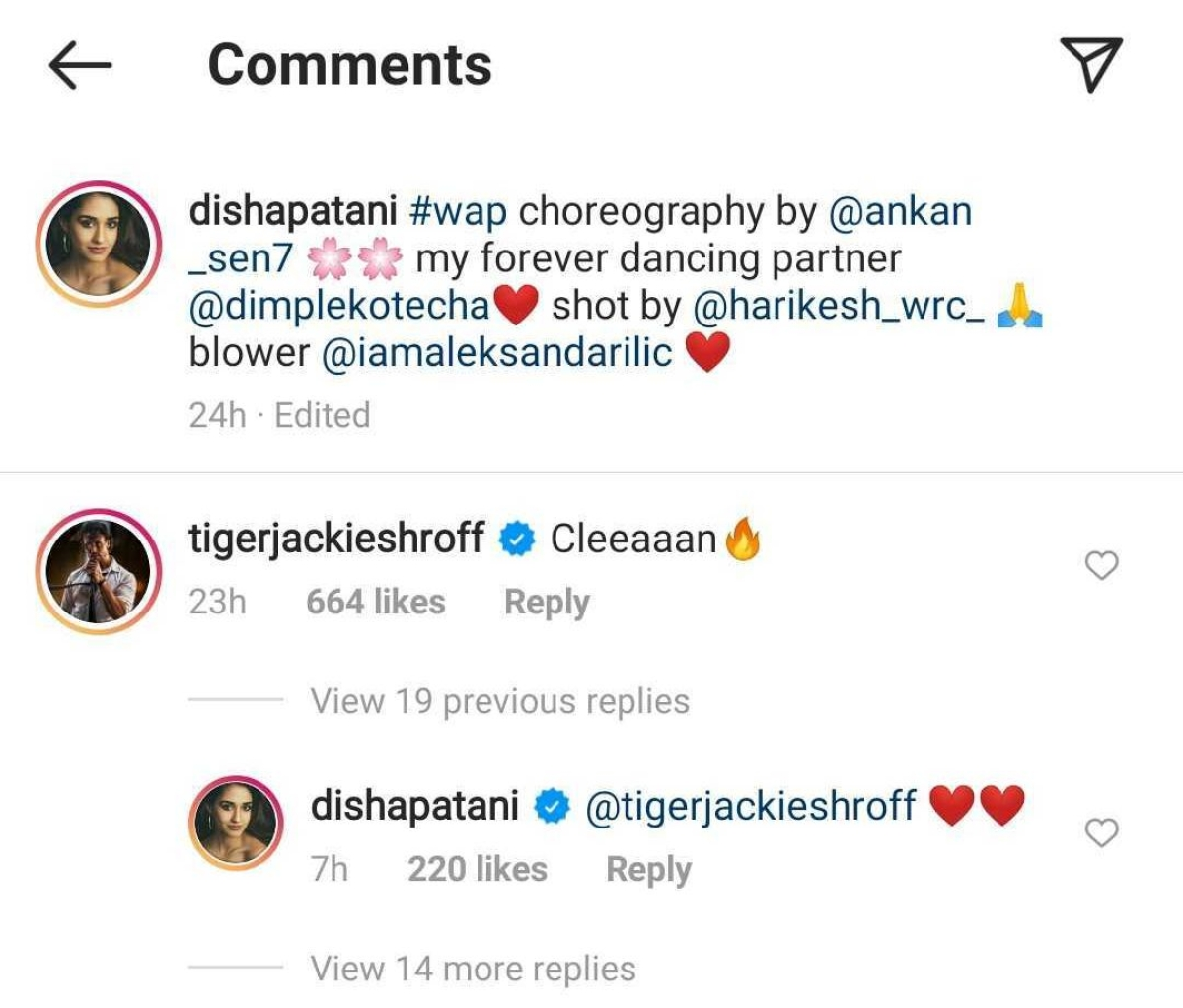 Watch: Disha Patani's sizzling moves on 'WAP' get a 'clean' comment from Tiger Shroff