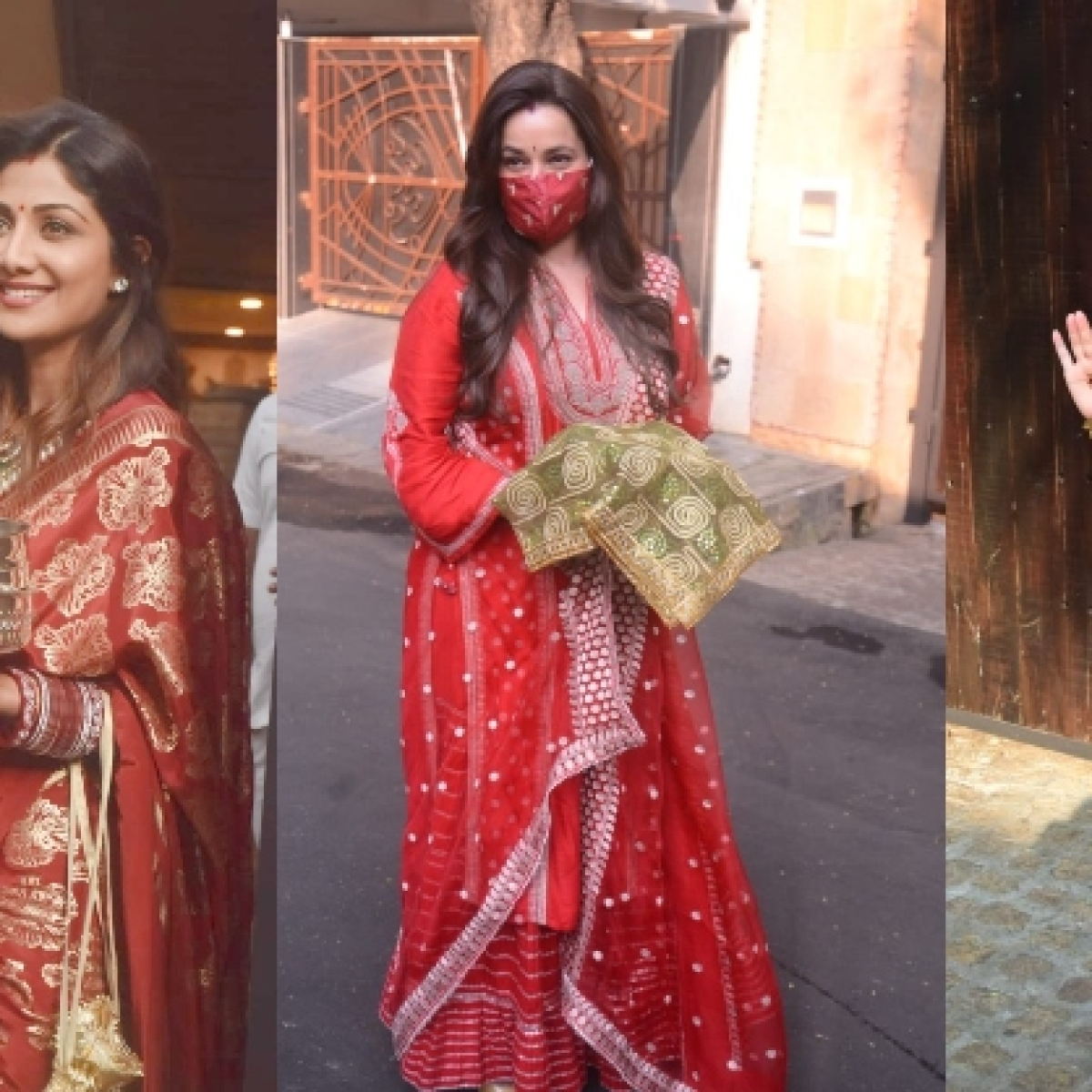 In Pics: Shilpa Shetty Kundra, Natasha Dalal and others attend Anil Kapoor's wife Sunita's Karva Chauth celebrations