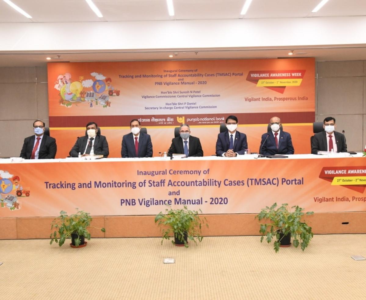 Punjab National Bank launches TMSAC portal and 2020 Vigilance Manual