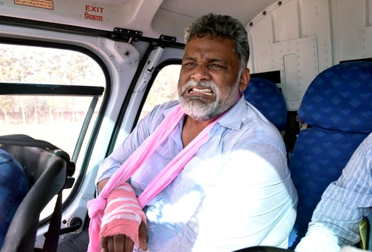 Bihar Elections 2020: JAP chief Pappu Yadav's stage collapses in Muzaffarpur, sustains hand fracture