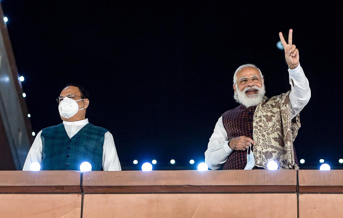 PM Modi basks in BJP's glory after NDA wins absolute majority in Bihar