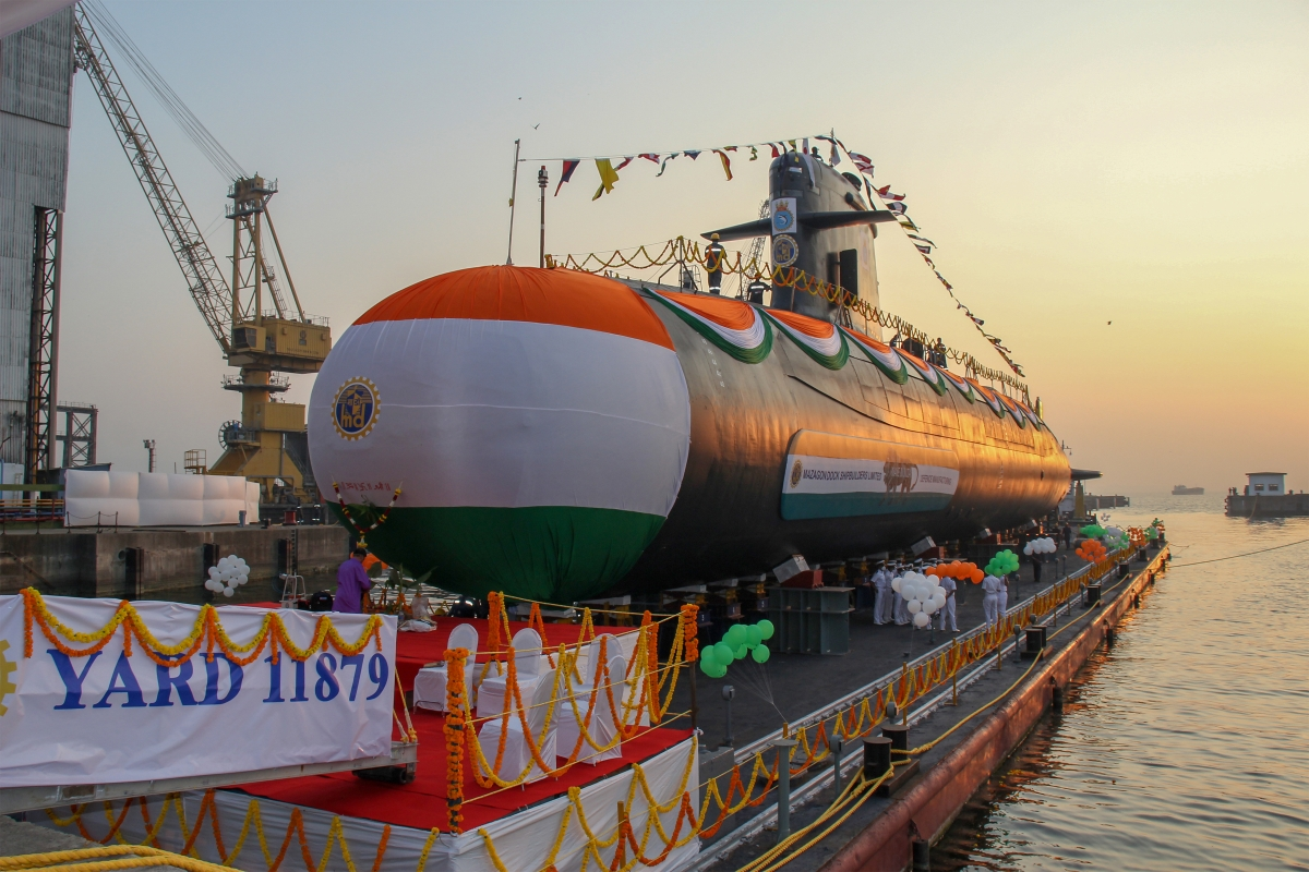 Indian Navy's fifth Scorpene-class submarine Vagir launched