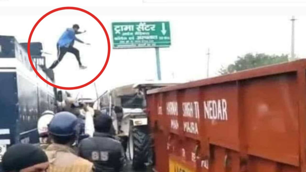 Young farmer who jumped on police vehicle to turn off water cannon booked for attempt to murder