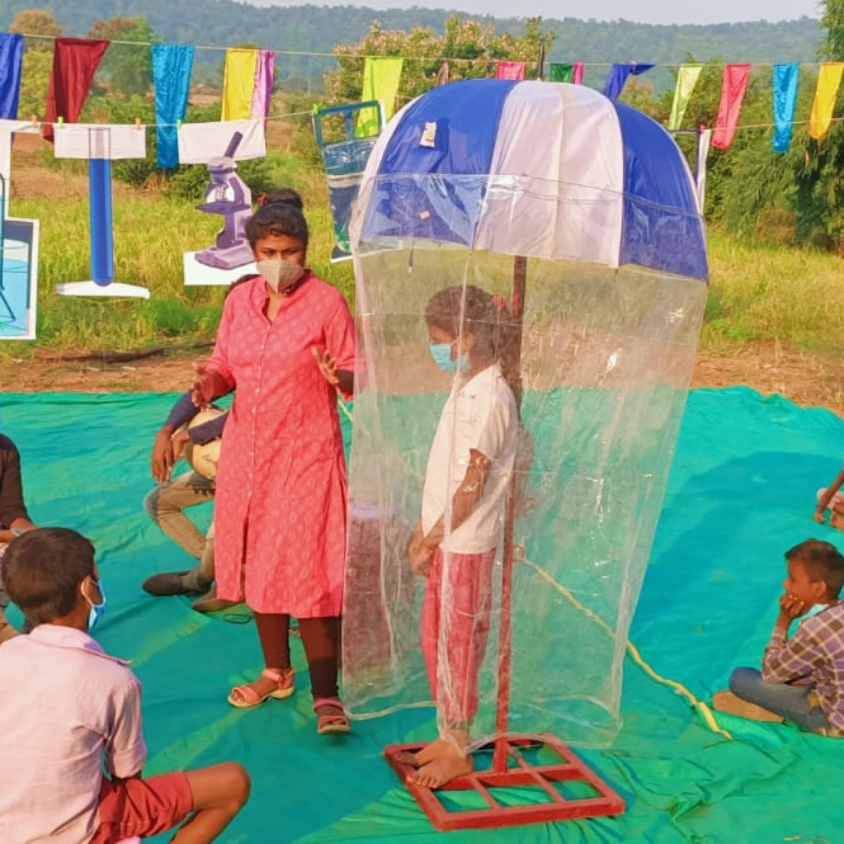 Children's Day 2020: Tribal kids conduct experiments away from artificial labs in Bhopal
