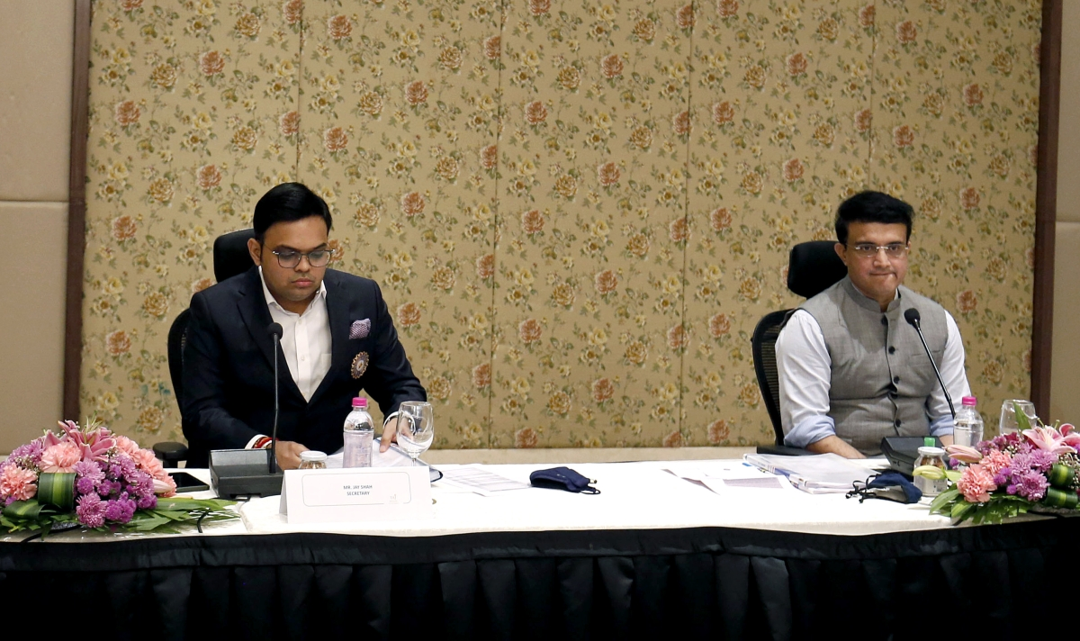 Gujarat, Dec 24 (ANI): President of BCCI Sourav Ganguly along with Jay Shah secretary of BCCI on the 89th Annual General Meeting, at the Taj Hotel in Ahmedabad on Thursday.