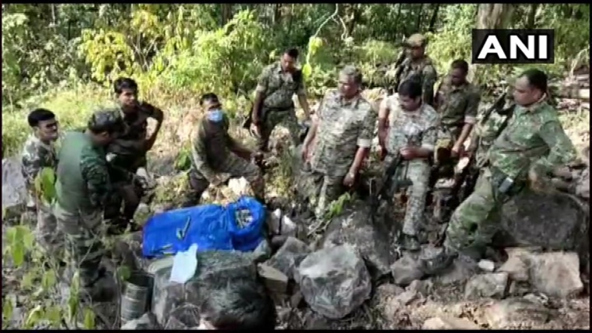 Naxal hideout busted in Maharashtra's Gondia district, explosives recovered