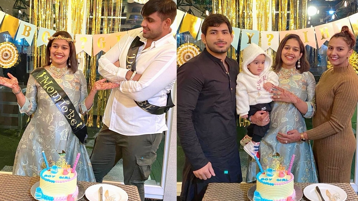 In Pics: Mom-to-be 'Dangal' girl Babita Phogat has a 'gender equality' themed baby shower