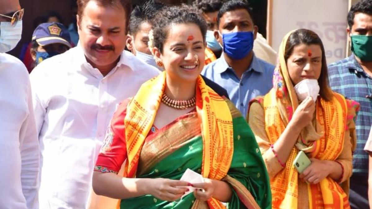 In Pics: Kangana visits Mumbai's Siddhivinayak temple wearing Maharashtrian Paithani saree