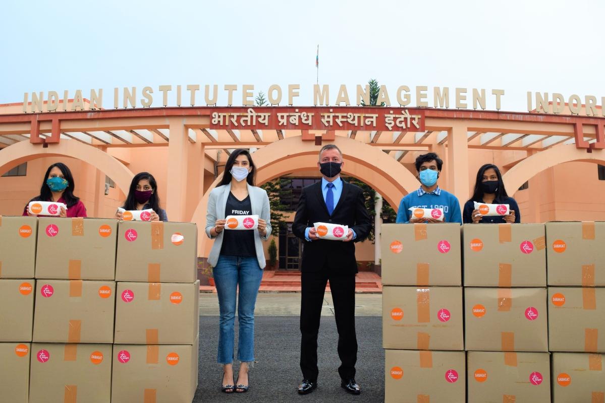 Madhya Pradesh: IIM Indore creates national record for sanitary napkins, distributes over 18,000 pads