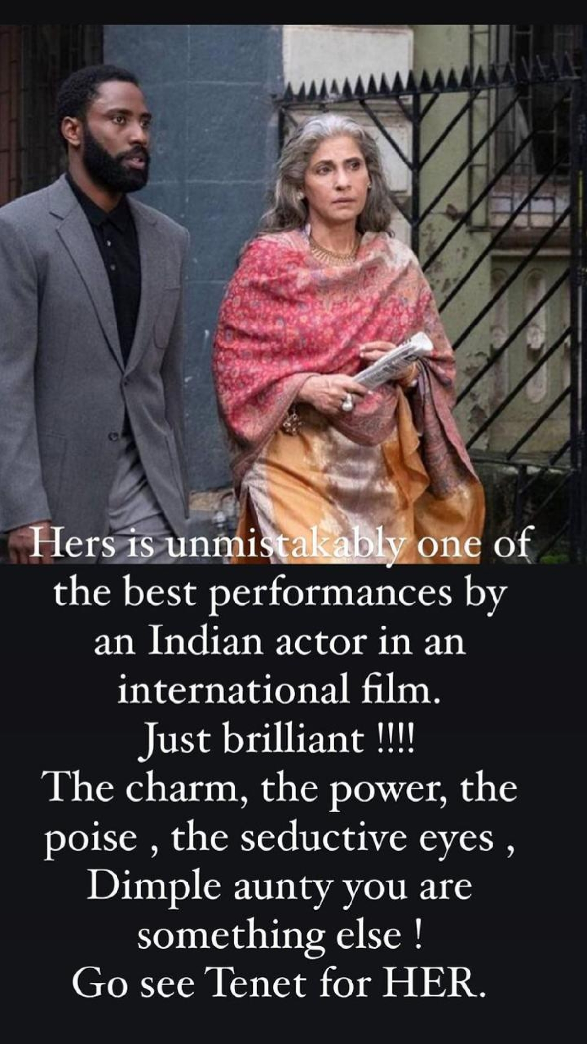 Hrithik Roshan praises Dimple Kapadia for her performance in Christopher Nolan film, says 'go see Tenet for HER'