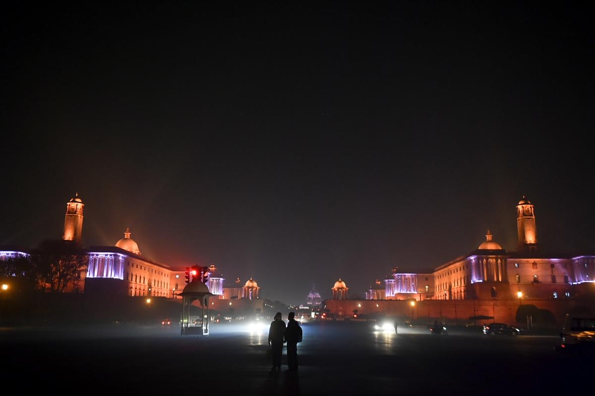 New Delhi: An illuminated Raisina Hill on the eve of the New Year 2021, in New Delhi, Thursday, Dec. 31, 2020.