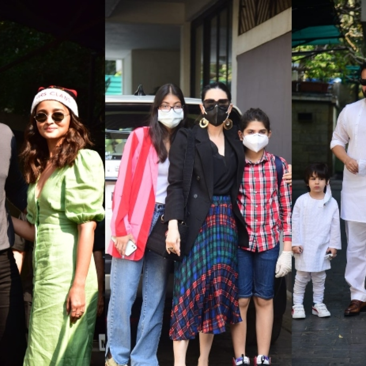 In Pics: Alia arrives at Kapoor family's Christmas brunch with beau Ranbir; Taimur twins with father Saif in white ensemble