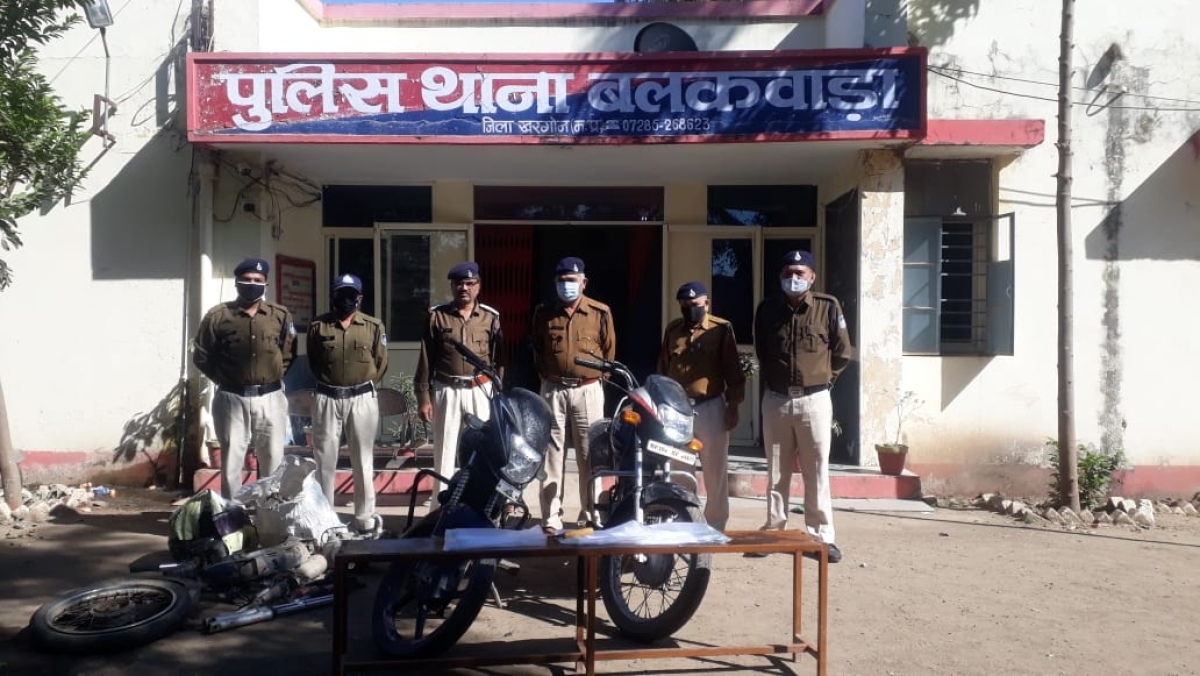 Madhya Pradesh: Motorcycle thief gang busted in Khargone dist: 3 arrested with 2 stolen bikes, 1 motorcycle engine