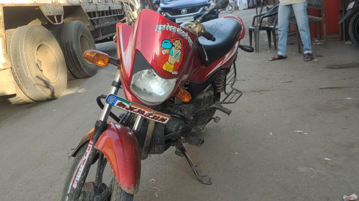 Seized motorcycle that belongs to accused arrested with cannabis in Khetia