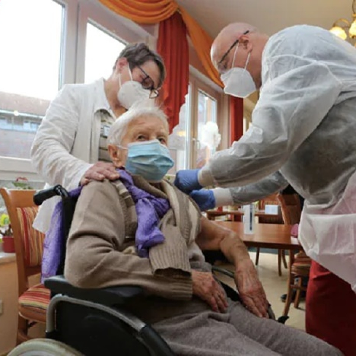 101-year-old woman becomes Germany's first COVID-19 vaccine recipient