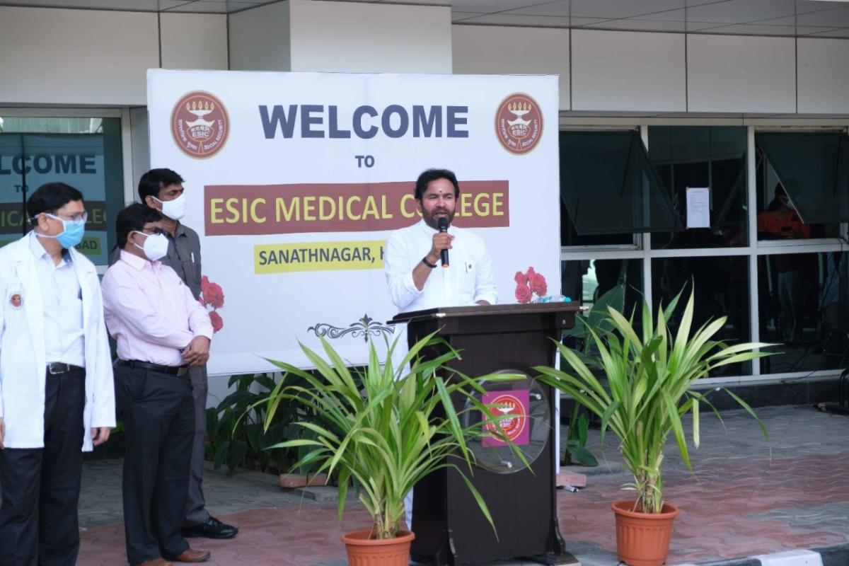 Santosh Kumar Gangwar dedicates new services at ESIC Medical College, Hyderabad