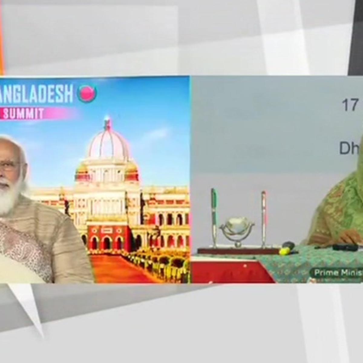 PM Modi, Sheikh Hasina jointly inaugurate Chilahati-Haldibari rail link between India, Bangladesh