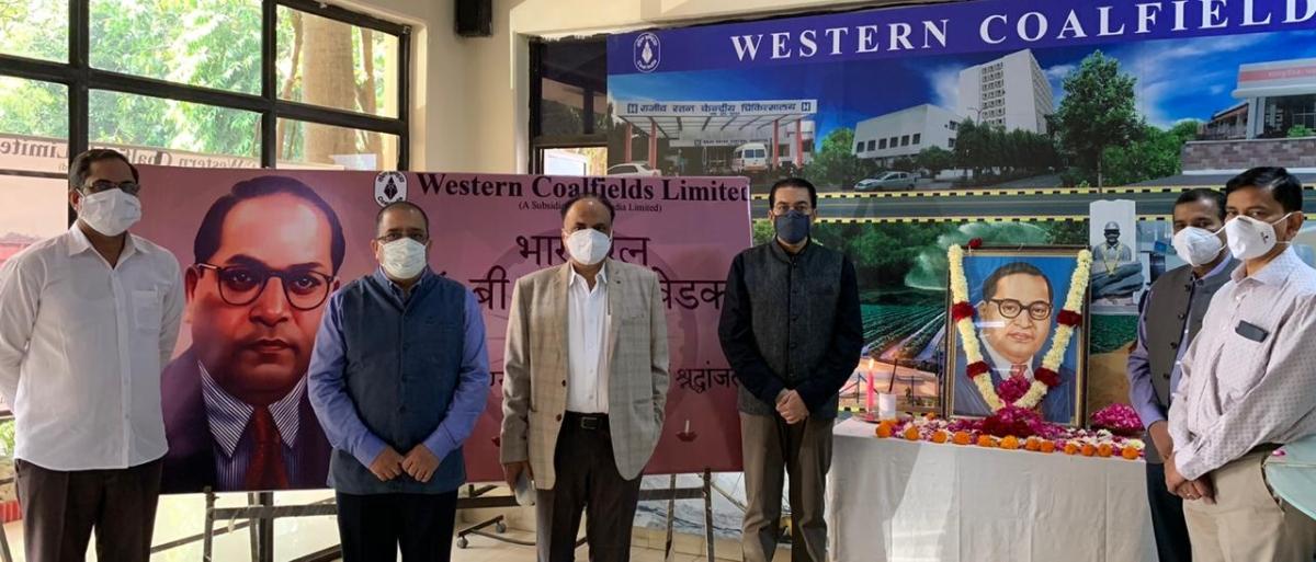 Western Coalfields Limited pays tribute to Dr. Baba Saheb Ambedkar