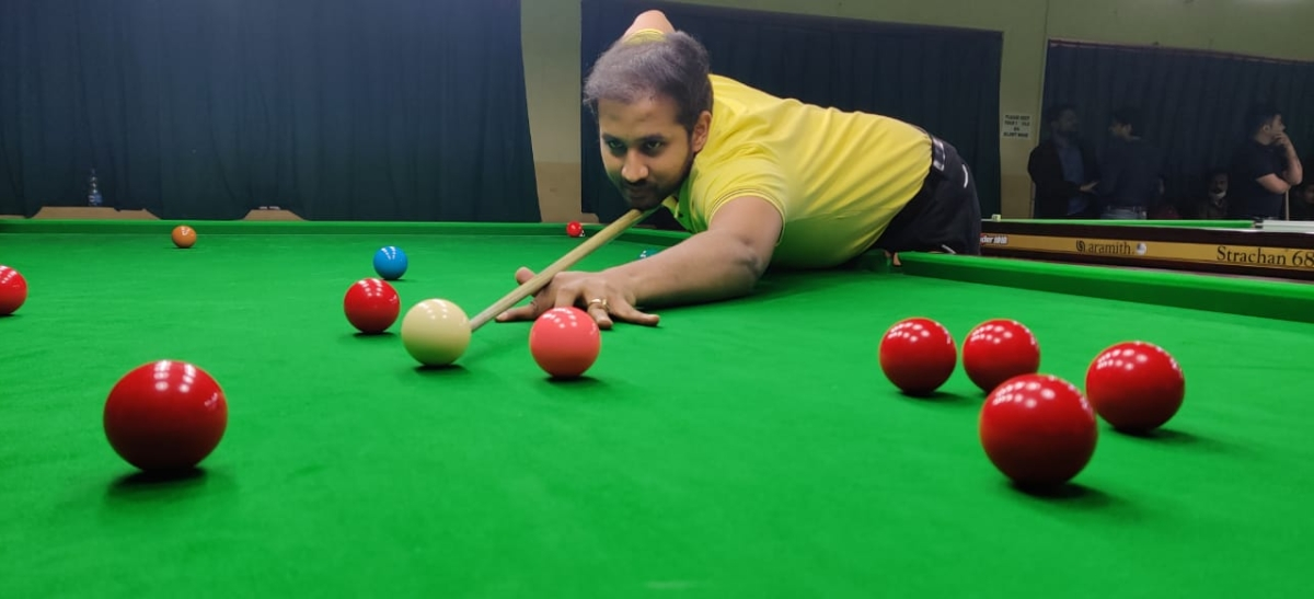 Indore: Priyank Jaiswal and Bharat Sisodia reach quarterfinals of 34th state snooker championship