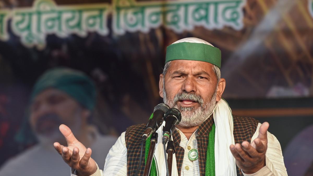 Bharatiya Kisan Union (BKU) leader Rakesh Tikait