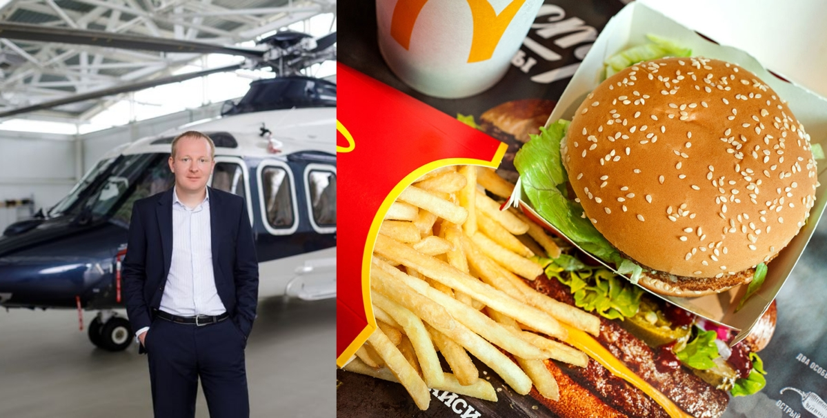 How much money is too much money? Russian millionaire books helicopter ride just to grab meal at McDonald's
